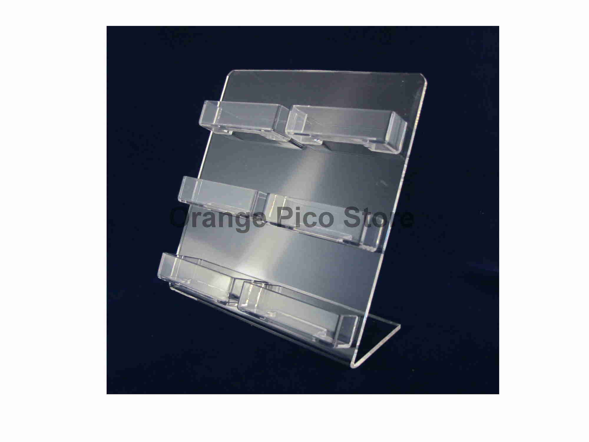 Orange pico store equipment co all display fixtures for retail acrylic 6 pocket business card holder colourmoves
