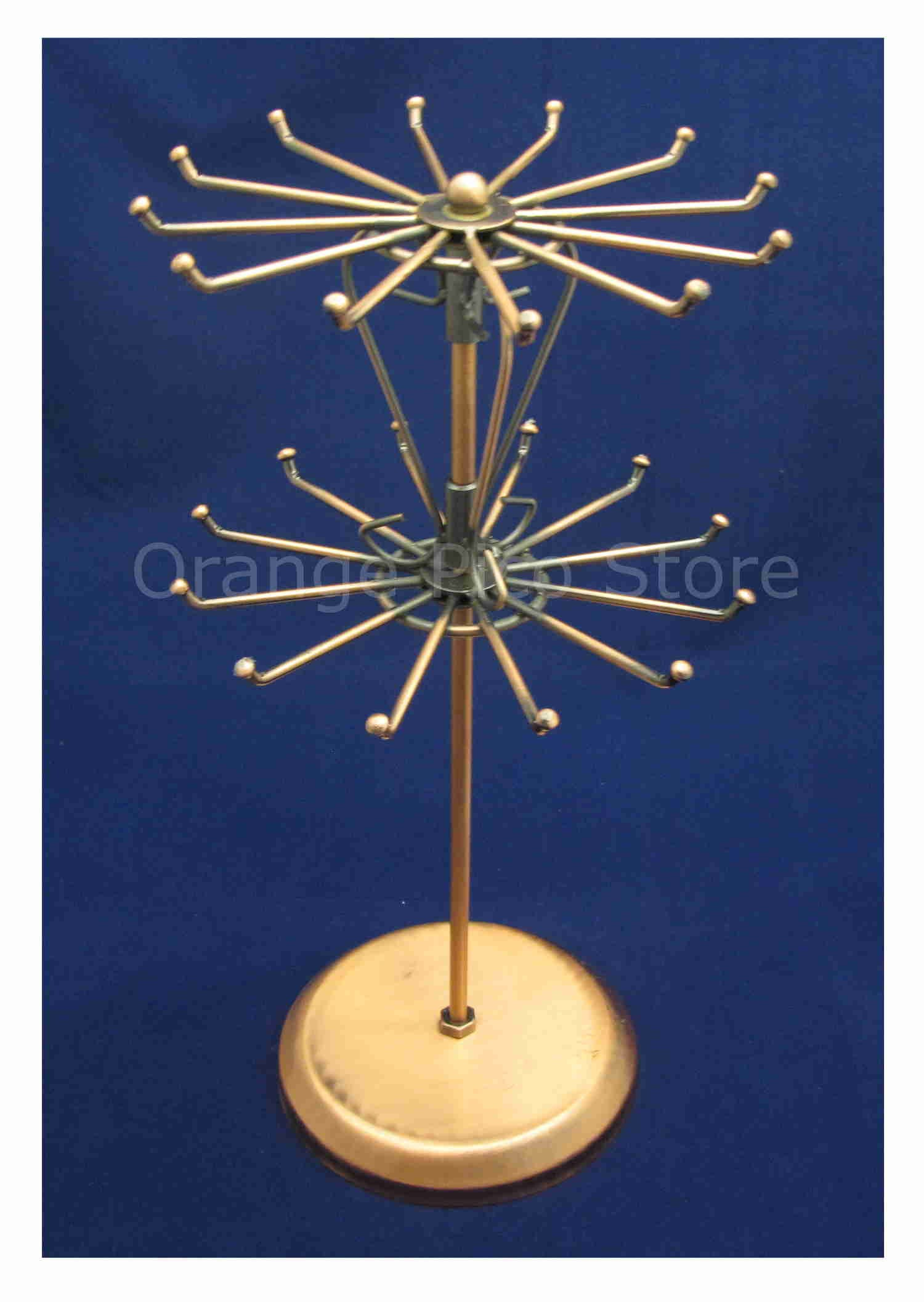 Copper Metal Rotating Wire Jewelry Display