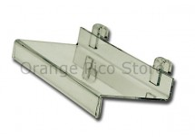 Acrylic Grid Panel Shelves with Sign Holder