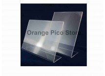 Acrylic Counter Top Slanted Sign Holder