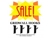 SALE: Box of Gridwall Hooks