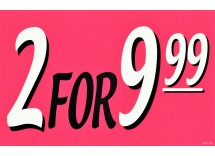 2 FOR 9.99 Deal SIgn