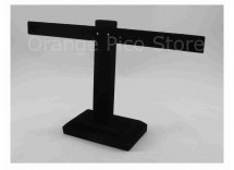 Black Velvet Single Tier T-Bar Earring Display