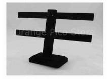 Black Velvet 2-Tier T-Bar Earring Display