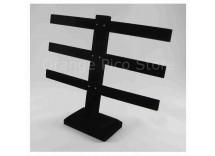Black Velvet 3-Tier T-Bar Earring Display