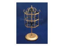 Copper Metal Rotating Jewelry Stand
