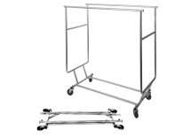 Sales Man's Clothing Rack - Double Round Tubing