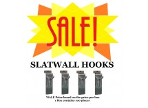 SALE: Box of Slatwall Hooks