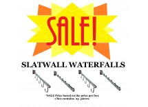 SALE: Slatwall Waterfall Brackets