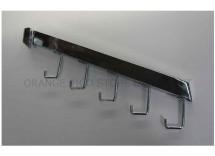 5 Hooks Down Slanted Bracket for Rectangular Bar